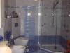 Fünfeck Dusche superflach / Rahmenlos / passend zum Bad, farbliche Badheizkörper