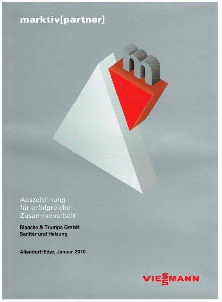 Viessmann 2010  / Auszeichnung für erfolgreiche Zusammenarbeit