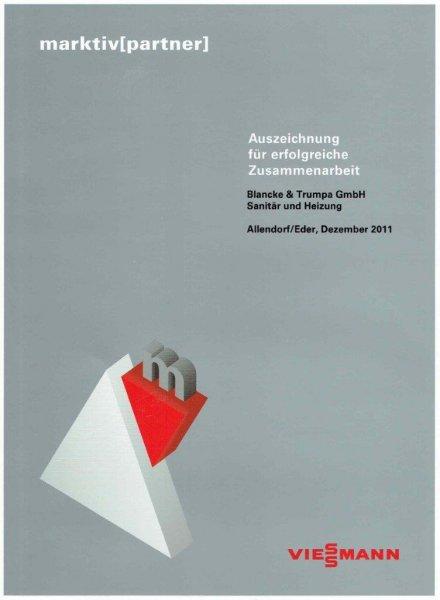 Viessmann 2011  / Auszeichnung für erfolgreiche Zusammenarbeit