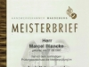 Meisterbrief Marcel Blancke